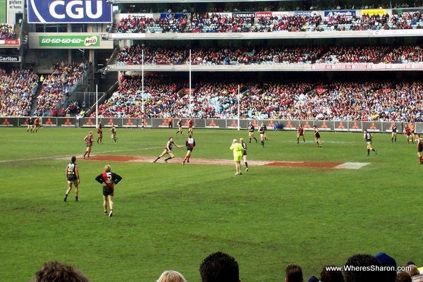 footy match at the MCG