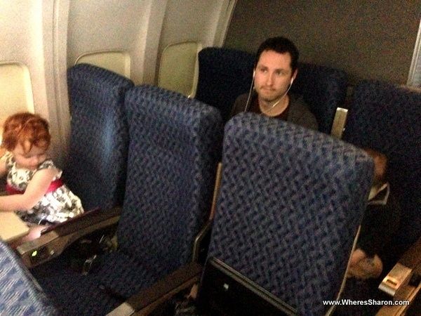 two nearly empty rows in american airlines flight