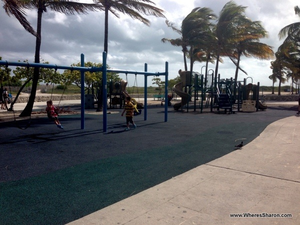 playground in Lummus Park, South Beach