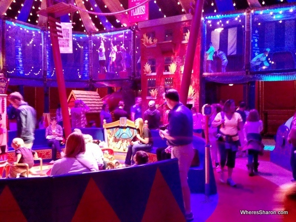 indoor play area with kids playing in dumbo ride disneyworld