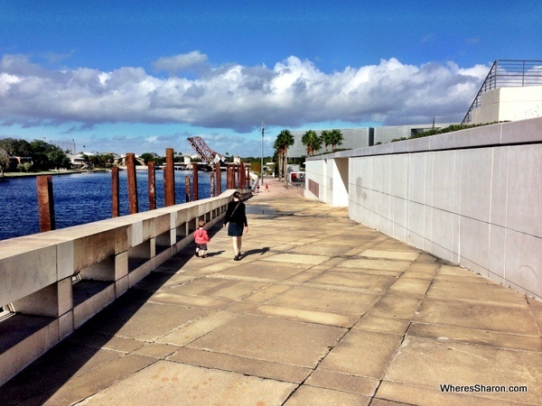 tampa thing to do walking the riverwalk with a toddler
