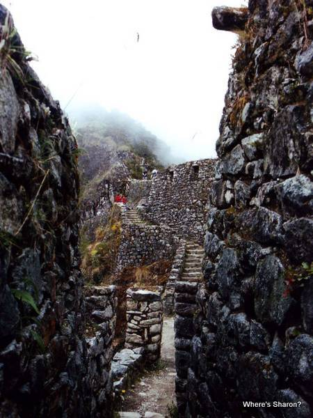 ruins on the inca trail peru