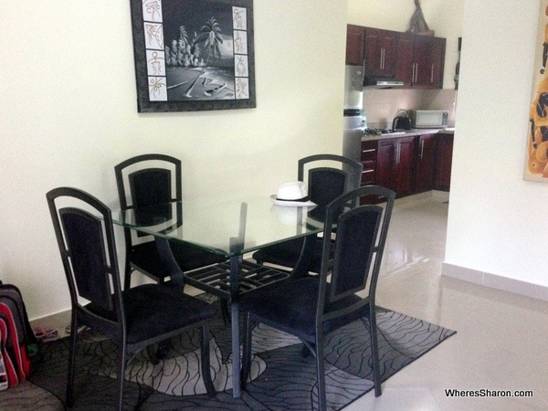 dining room in cabarete vacation rental