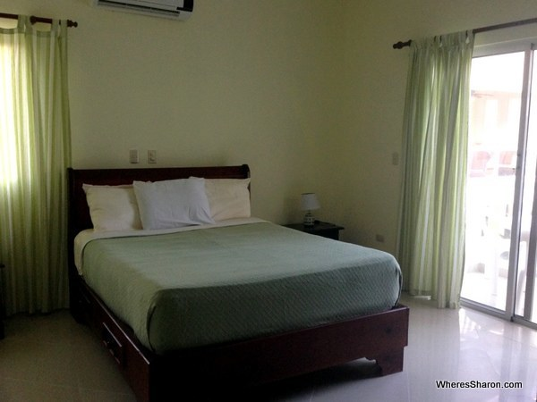 bed in bedroom in vacation rental cabarete