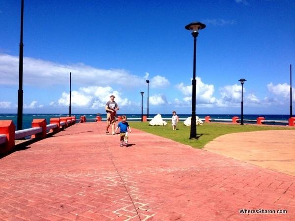 Enjoying the area next to Fuerte de San Felipe