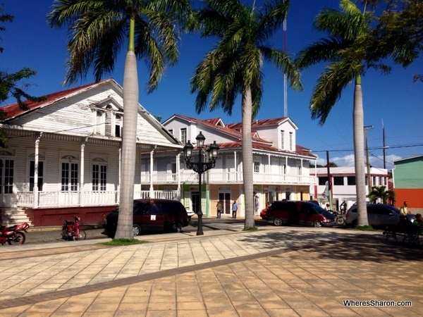 Parque Central buildings on things to do in Puerto Plata excursion