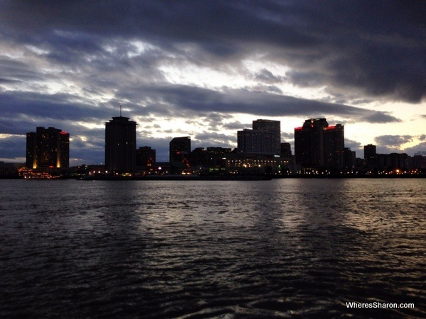 new orleans city skyline in the evening