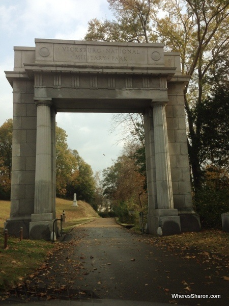 Big arch entrance to Vicksburg National Military Park