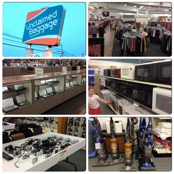 laptops, cameras, vacuum cleaners, microwaves for sale at Unclaimed Baggage Center