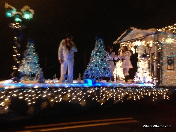 Elvis at Lighted Christmas Parade Cleveland GA