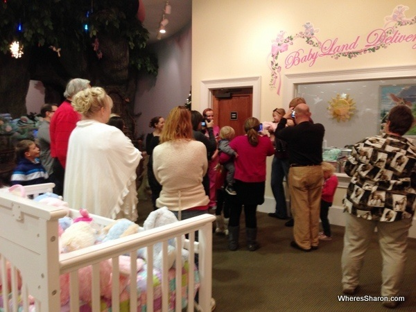 """All the adults rushing to see the new """"baby"""""""