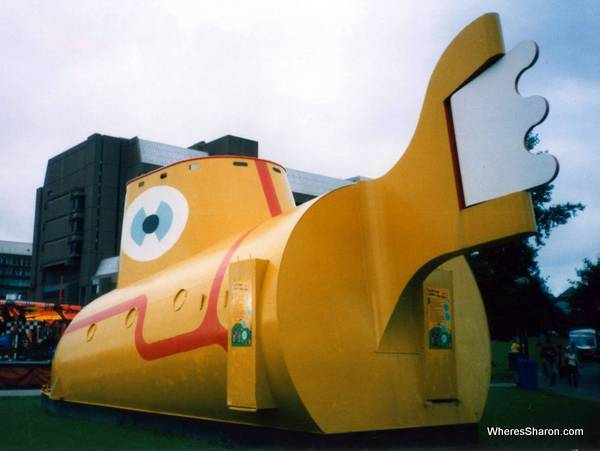 A big yellow submarine