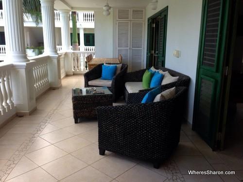 balcony at albachiara hotel las terrenas