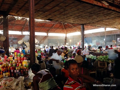 Inside the busy Marche du Fer Cap-Haitien Haiti