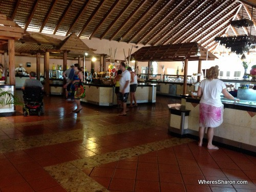 Buffet restaurant at the Grand Marien all inclusive costa dorada