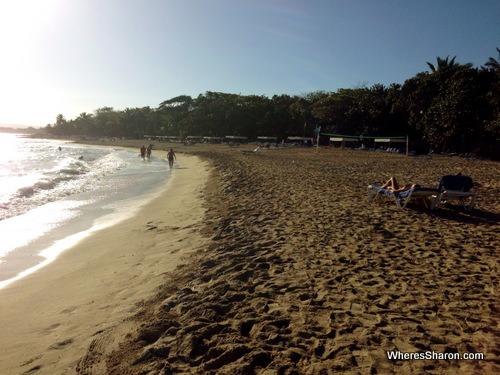 the beach at at the Grand Marien all inclusive costa dorada