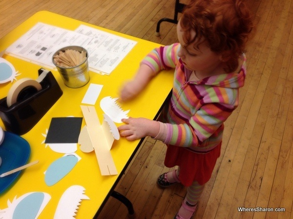 Making a puppet at center of puppetry arts atlanta