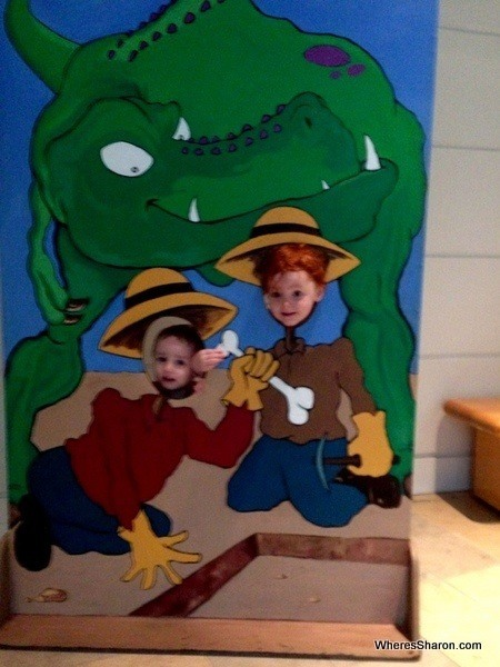 Some funny photo opps at Fernbank Natural History Museum