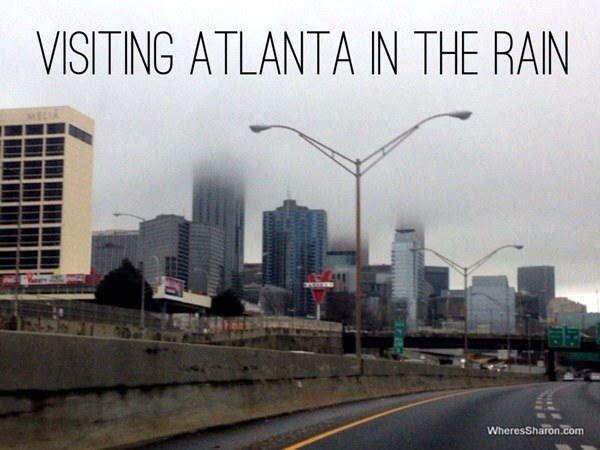 Downtown Atlanta in the rain GA