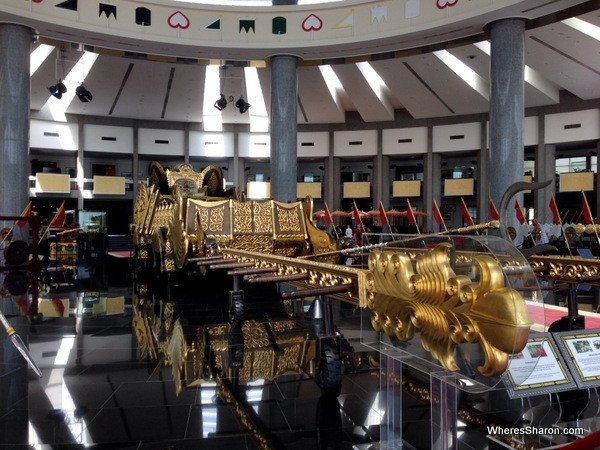 Inside the Royal Regalia Museum bandar seri begawan