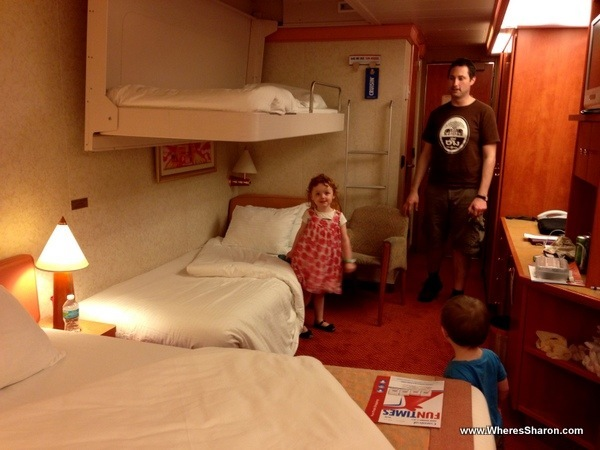 carnival caribbean cruise with kids cabin bunk