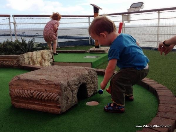 carnival caribbean cruise with kids mini golf