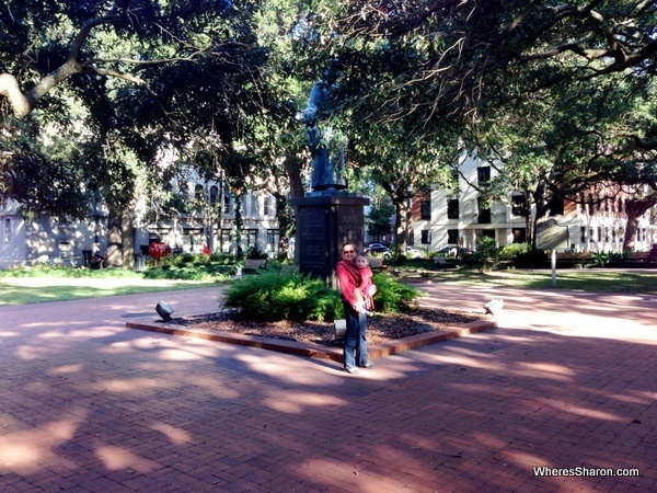 One of many squares while walking through Savannah stopover