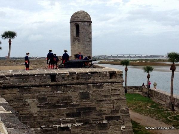 Castillo De San Marcos canons st augustine