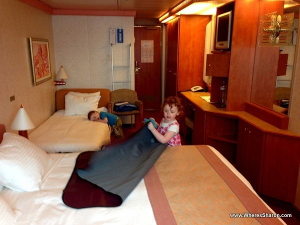 outside cabin interior on Carnival Freedom Caribbean cruise