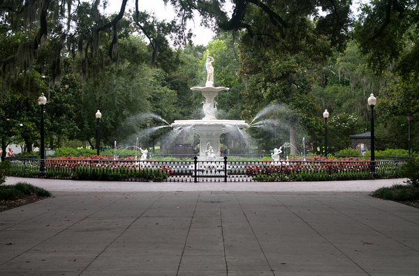 Hanging out in Forsyth Park