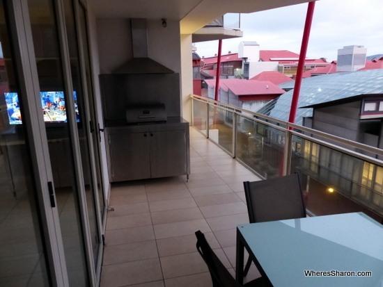 balcony at Sullivans Cove Apartments