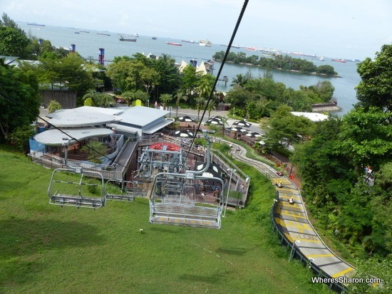 skyline luge and chair lift on sentosa island