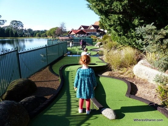 mini golf at the Aspect Tamar Valley Resort grindelwald