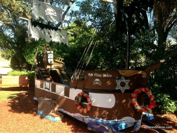 pirate boat at Boca Raton Children's Museum