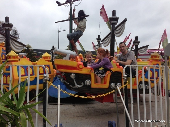 pirate boat at Wonderland Fun Park Docklands