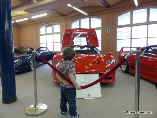 Checking out cars at Fox Car Collection Docklands
