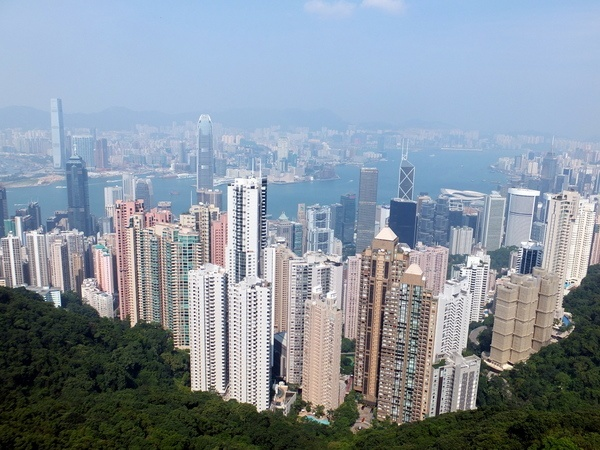 The famous Hong Kong view from Sky Terrace