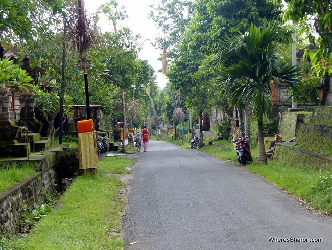 street outside ubud