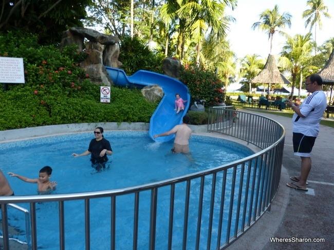 water slide at Golden Sands Resort