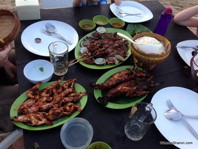 Jimbaran seafood feast
