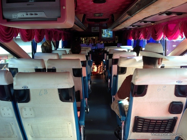 inside bus hatyai to krabi