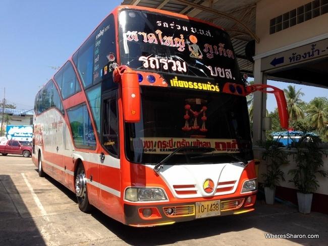 bus from hat yai to krabi/phuket
