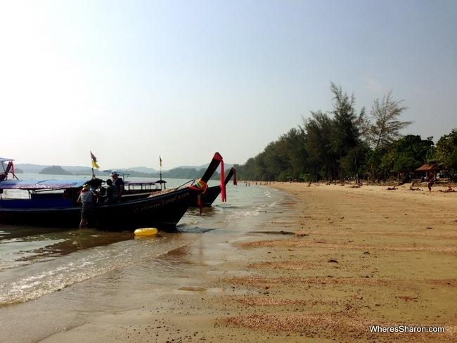 ao nang beach after travelling from penang