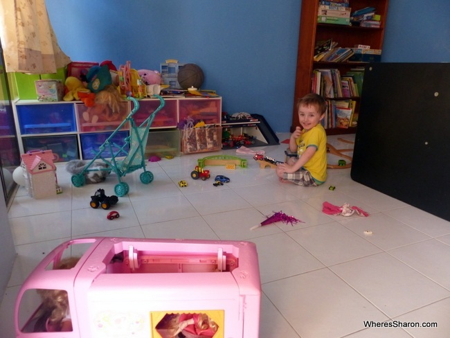 The kids love the toys and the play area that come with the house!