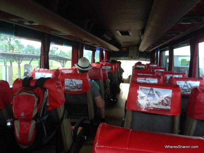 The bus to KL Sentral from KLIA2