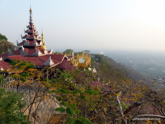 On top of Mandalay Hill