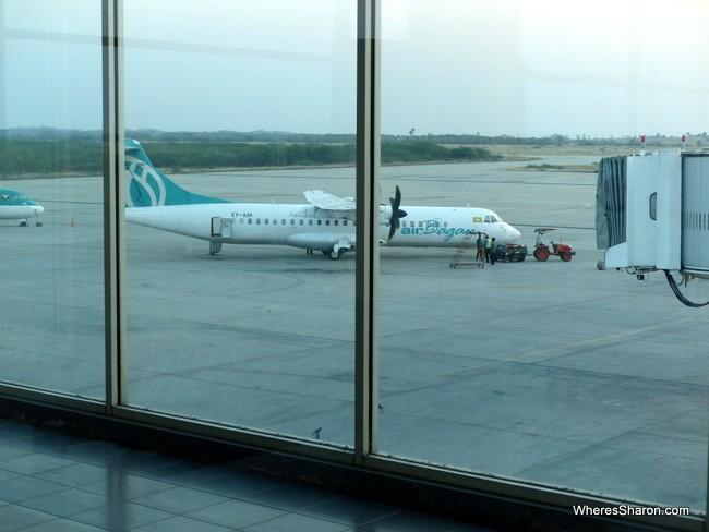 air bagan plane travelling in burma