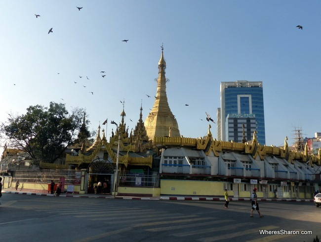 things to do in yangon Sule Paya