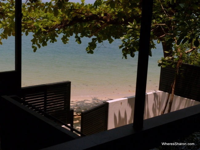 beach and luxury room at the Andaman Langkawi