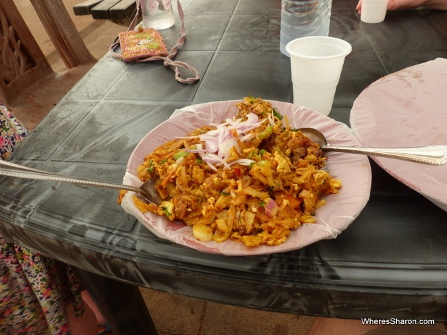 vegetable kotthu